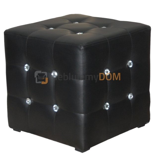 pouf cube pik square with crystals 50 x 50 cm meblujemydom. Black Bedroom Furniture Sets. Home Design Ideas