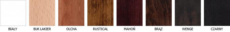 Kolorystyka drewna