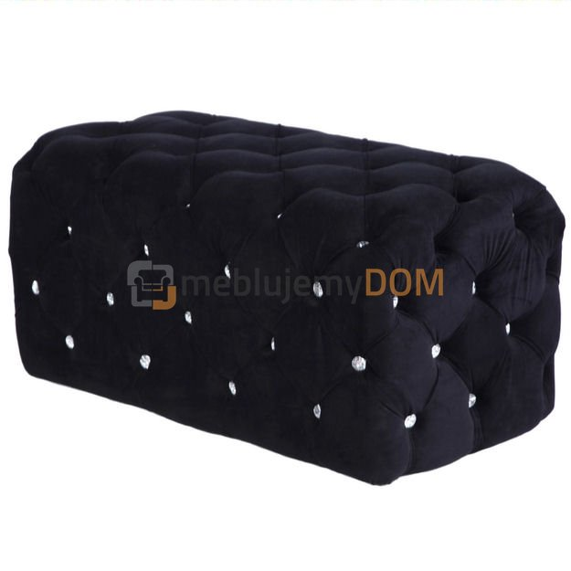 pouf chester with crystals 97 x 50 cm meblujemydom. Black Bedroom Furniture Sets. Home Design Ideas