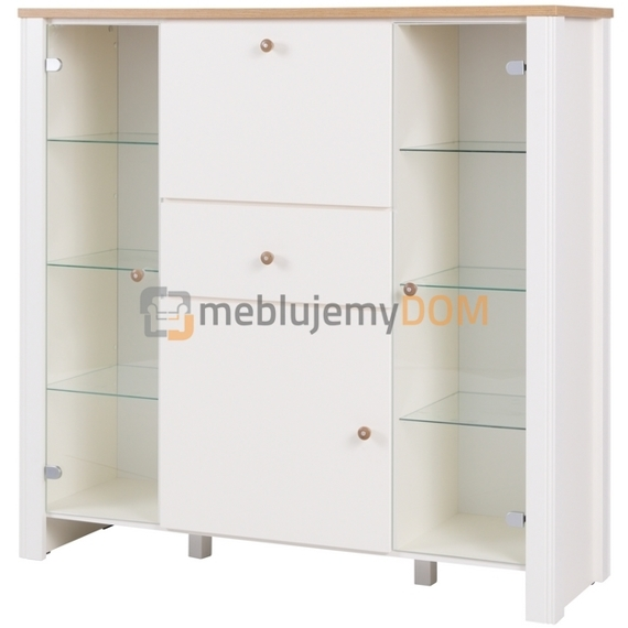 Chest of drawers with display KALLE