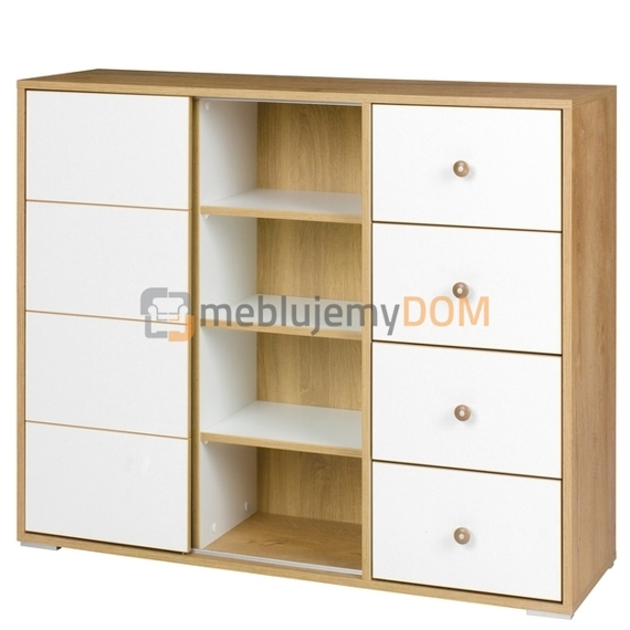 Chest of drawers with shelves MALMO