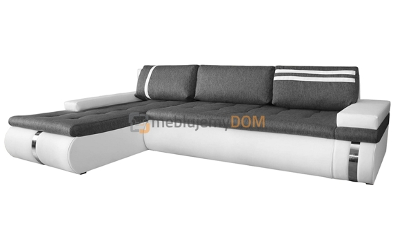 Corner sofa bed SUSANNA with chrome slats