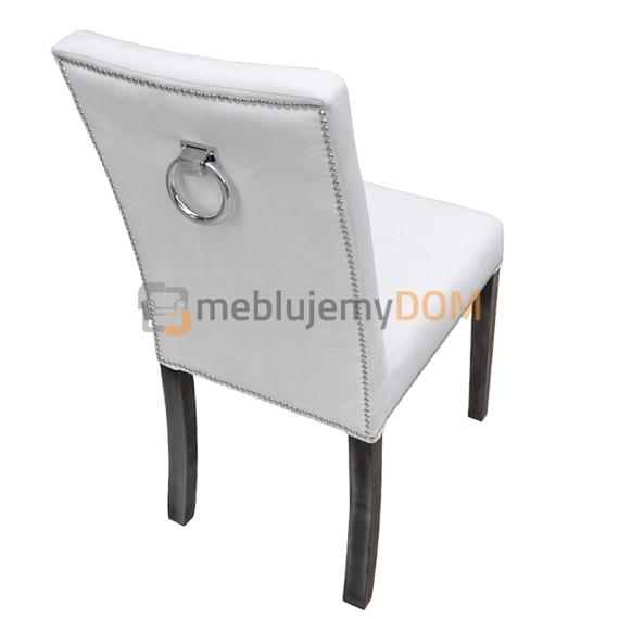 NARROW PIK chair with buttons, thumbtacks and knocker 98 cm